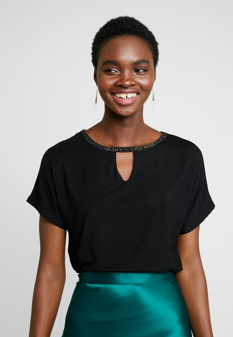 Dorothy Perkins - KEYHOLE GLITTER - T-shirts med print - black