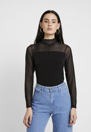 LONGSLEEVE HIGH NECK - T-shirt con stampa - black