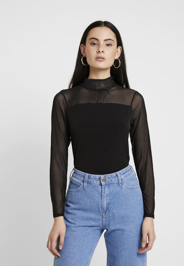 LONGSLEEVE HIGH NECK - Printtipaita - black