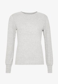 Dorothy Perkins - BRUSHED RIB PUFF SLEEVE CUFF TOP - Sweter - grey marl