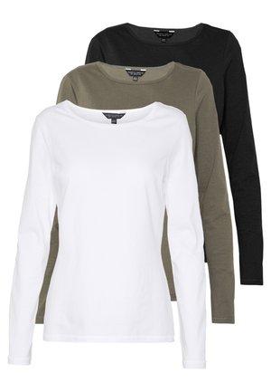 3 PACK CREW NECK - Long sleeved top - black