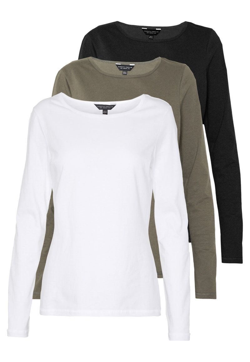 Dorothy Perkins - 3 PACK CREW NECK - Topper langermet - black
