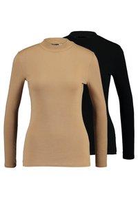 Dorothy Perkins - FUNNEL NECK 2 PACK - Long sleeved top - camel - 0