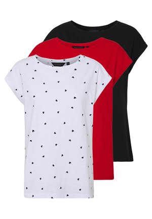 ROLL SLEEVE TEE 3 PACK - T-shirt z nadrukiem - red