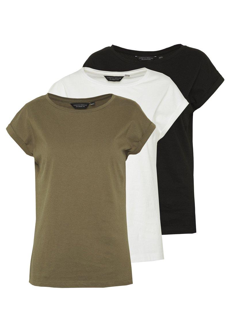 Dorothy Perkins - ROLL SLEEVE TEE 3 PACK - T-shirt print - blush