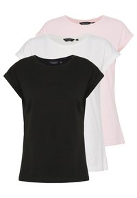 Dorothy Perkins - ROLL SLEEVE TEE 3 PACK - T-shirt print - multi - 0