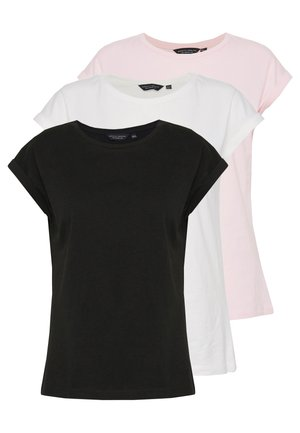 ROLL SLEEVE TEE 3 PACK - T-shirt con stampa - multi
