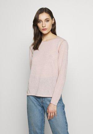 LADDER INSERT LONGSLEEVE - Stickad tröja - blush