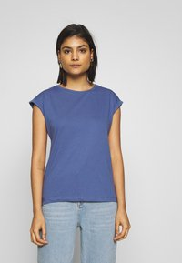 Dorothy Perkins - ROLL SLEEVE ORGANIC TEE 3 PACK - T-shirt basic - black/ white/ blue - 5
