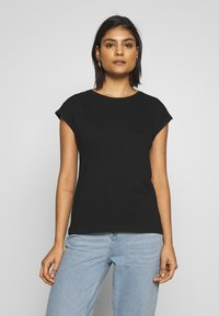 Dorothy Perkins - ROLL SLEEVE ORGANIC TEE 3 PACK - T-shirt basic - black/ white/ blue - 4
