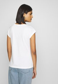 Dorothy Perkins - ROLL SLEEVE ORGANIC TEE 3 PACK - T-shirt basic - black/ white/ blue - 3