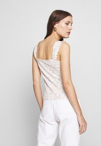 Dorothy Perkins - DITSY TIE FRONT VEST - Topper - ivory - 2