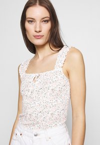 Dorothy Perkins - DITSY TIE FRONT VEST - Topper - ivory - 4