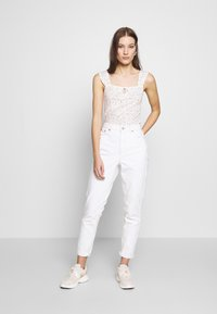 Dorothy Perkins - DITSY TIE FRONT VEST - Topper - ivory - 1