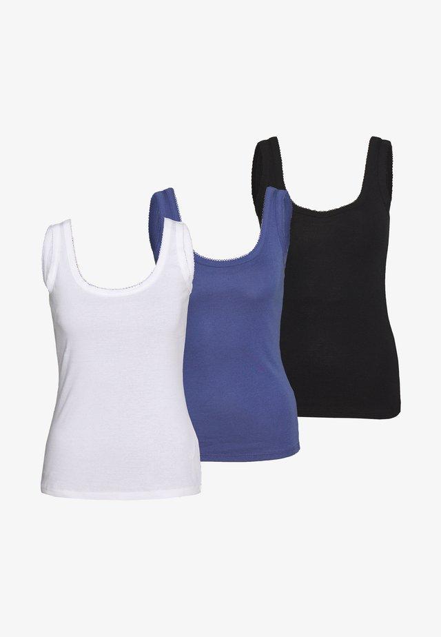 3 PACK  - Toppe - black/white/blue