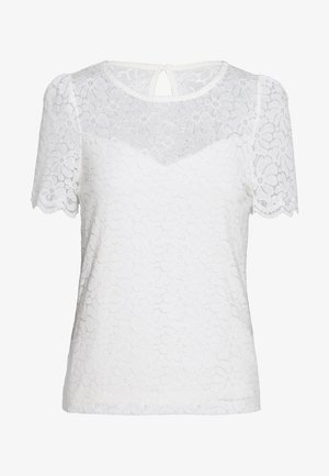 PUFF SLEEVE TEE - Blouse - ivory