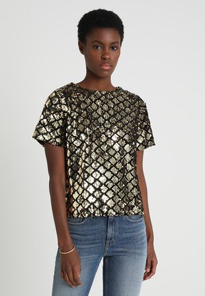 SEQUIN TEE - Blouse - gold