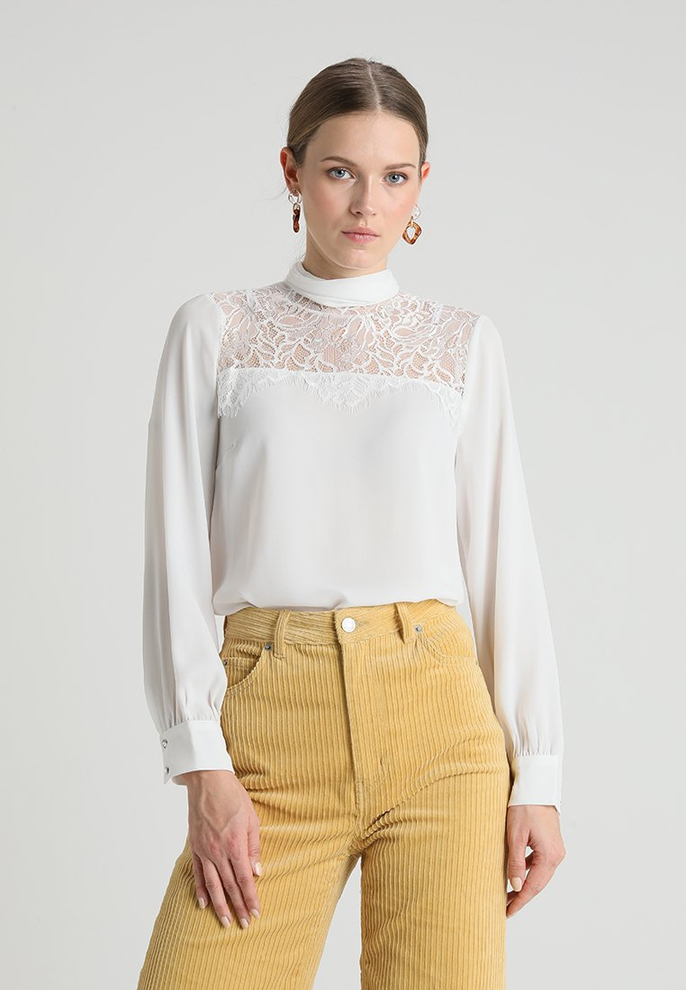 Dorothy Perkins - INSERT PUSSYBOW - Blus - ivory