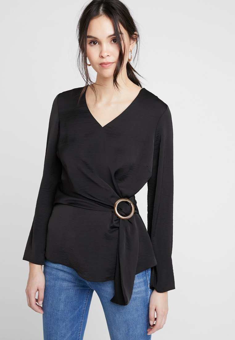 Dorothy Perkins - WRAP - Blus - black