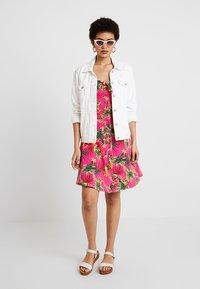 Dorothy Perkins - BUTTON THROUGH BOW CAMI - Jersey dress - multi-coloured - 2