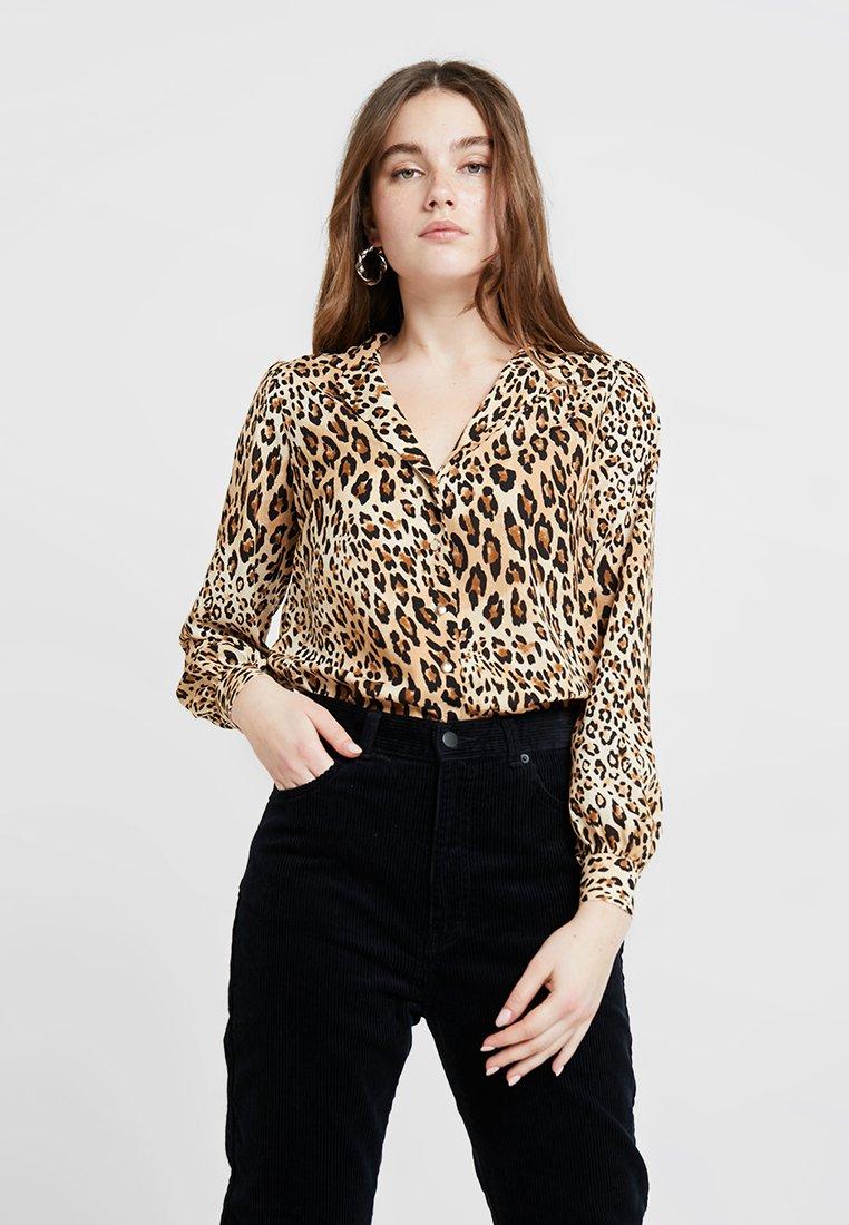 Dorothy Perkins - ANIMAL PRINT - Camisa - brown/black