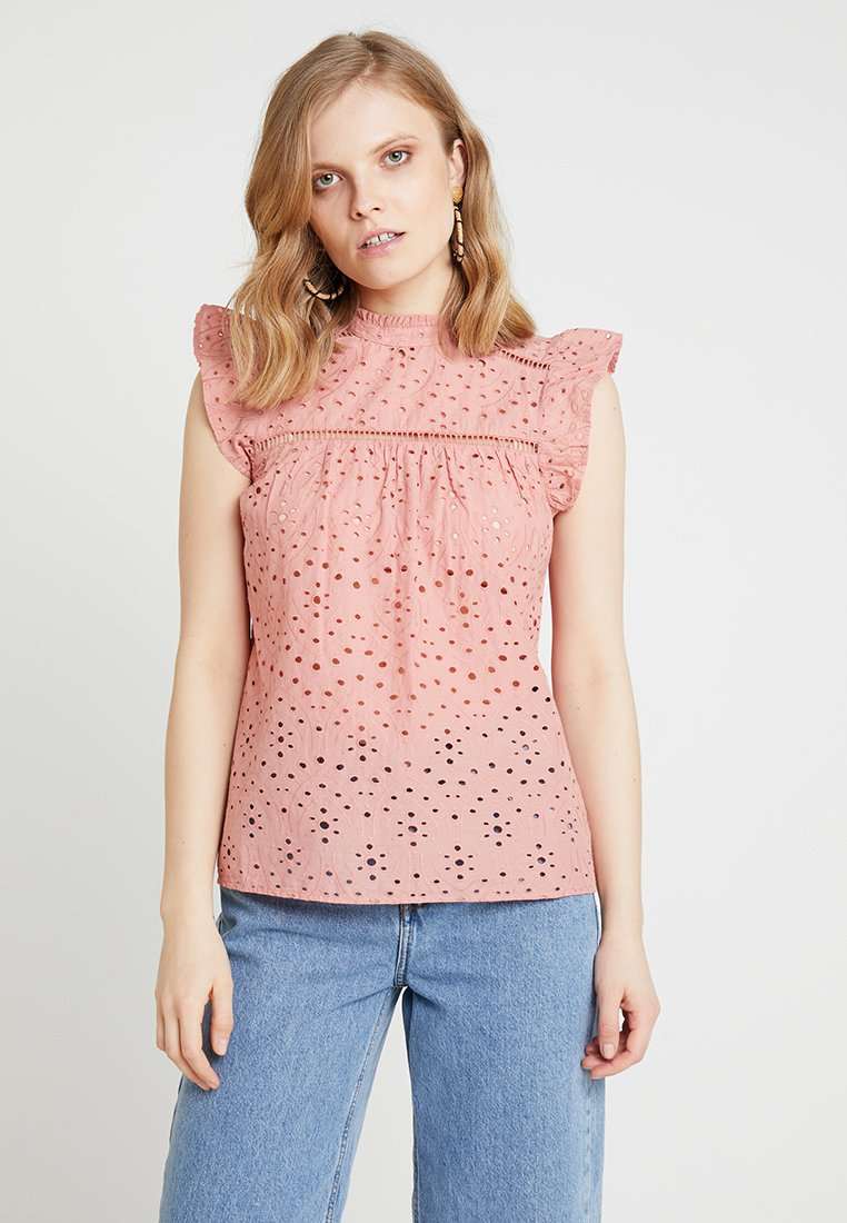 Dorothy Perkins - BRODERIE VICTORIANA - Bluse - blush