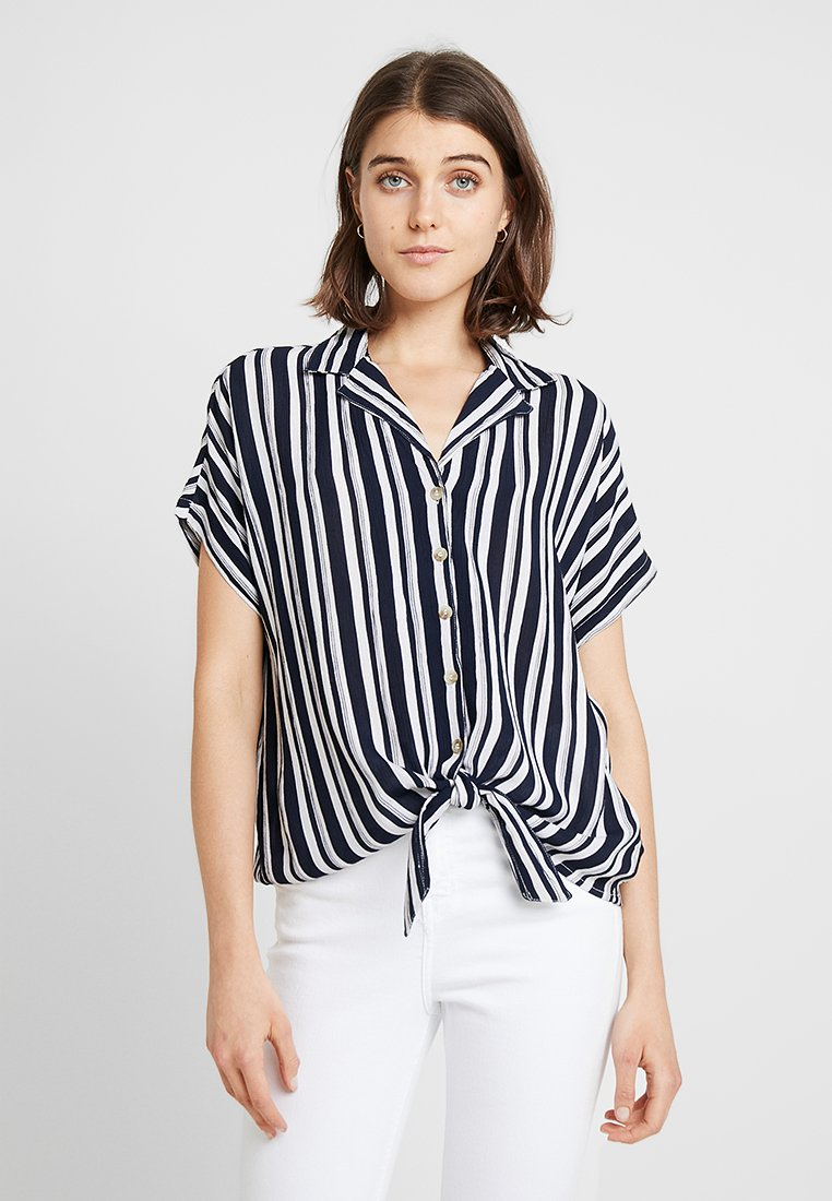 Dorothy Perkins - CRINKLE - Camicia - navy/white