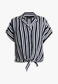 Dorothy Perkins - CRINKLE - Camicia - navy/white - 4