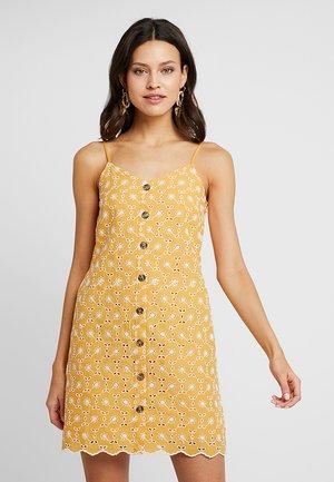ALL OVER BRODERIE CAMI DRESS - Košilové šaty - light yellow