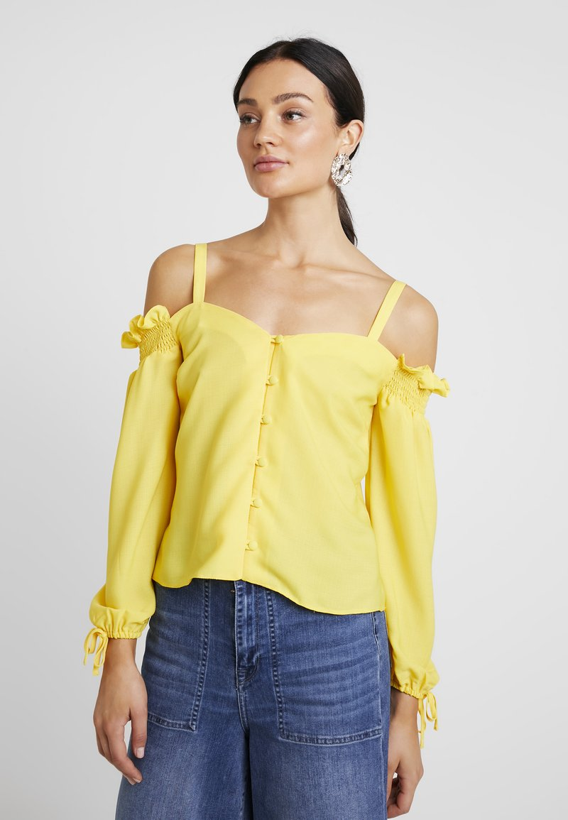 Dorothy Perkins - SQUARE NECK MILK MAID - Blouse - lemon