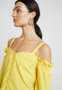 Dorothy Perkins - SQUARE NECK MILK MAID - Bluse - lemon - 3