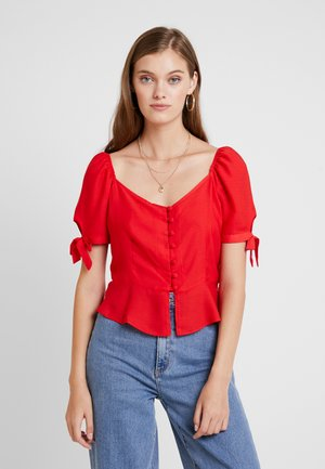BUTTON DOWN MILKMAID  - Blouse - red