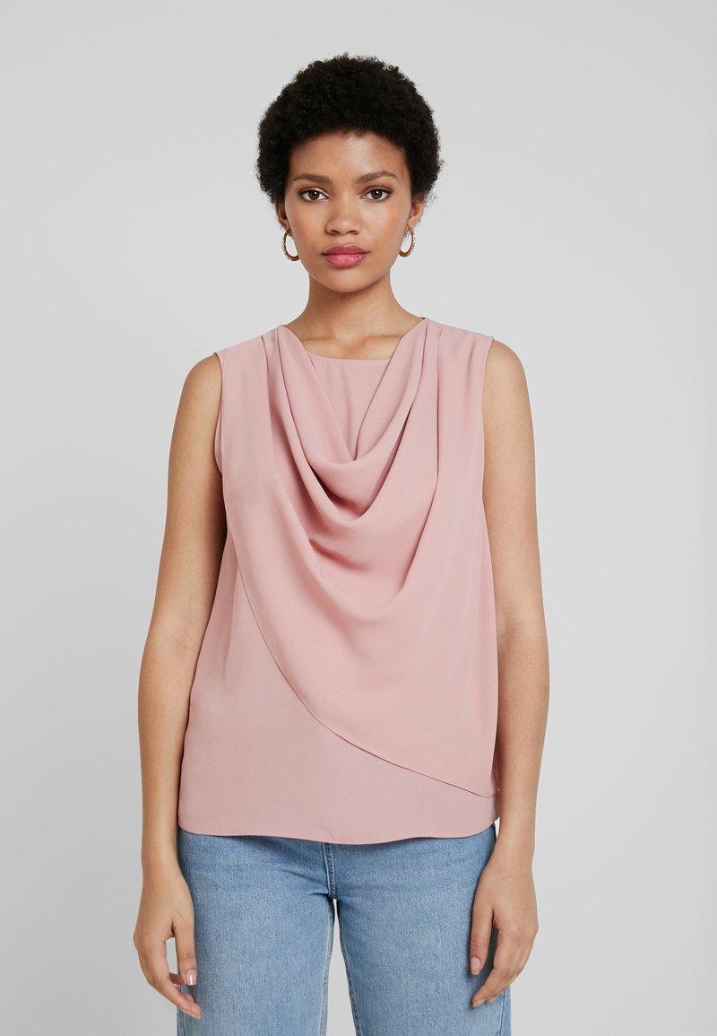 Dorothy Perkins - SLEEVELESS COWL NECK - Bluse - light pink