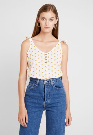BUTTON FRONT CAMI - Blusa - ivory