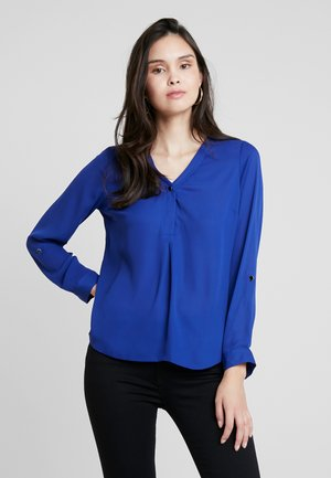 ROLL SLEEVE - Blouse - cobalt