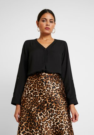 ROLL SLEEVE - Blouse - black