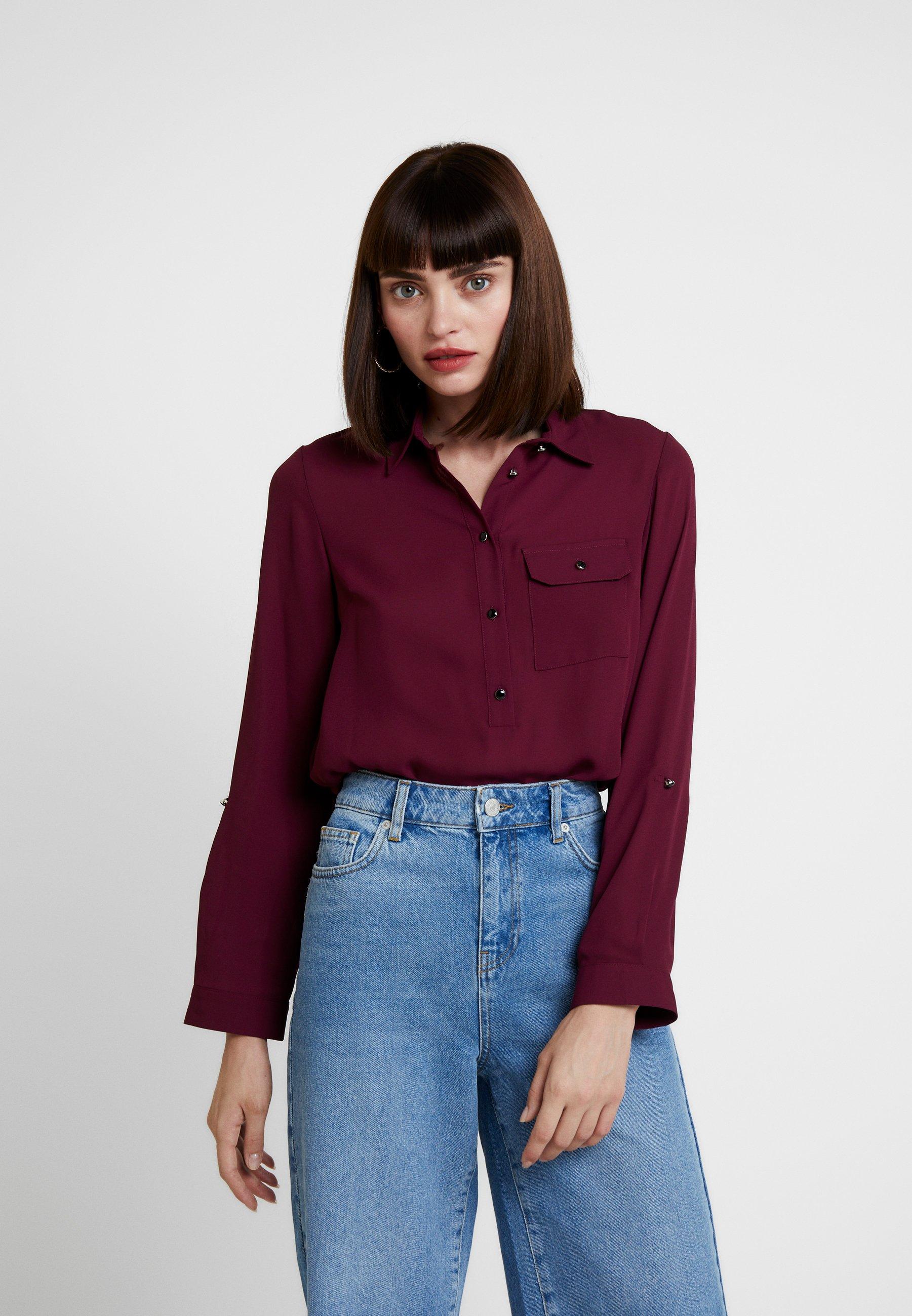 Purple Collar Perkins Roll Dorothy SleeveBlouse 34Aj5RL