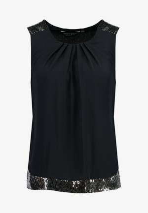 SHOULDER SLEEVELESS - Blouse - black
