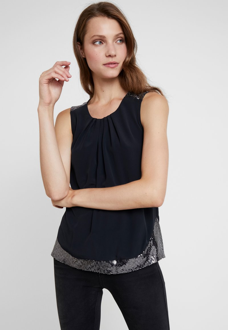 Dorothy Perkins - SHOULDER SLEEVELESS - Blusa - black