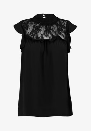 INSERT RUFFLE - Blus - black