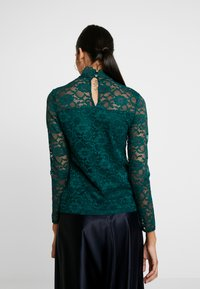 Dorothy Perkins - HIGH NECK - Blus - forest green - 2
