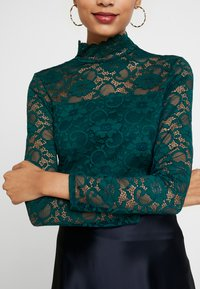 Dorothy Perkins - HIGH NECK - Blus - forest green - 5