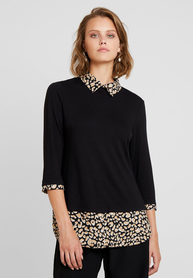 Dorothy Perkins - ANIMAL PRINT - Bluser - black