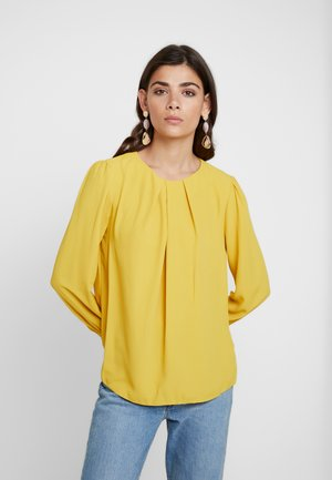 PLEAT NECK PENNY - Bluzka - plain ochre