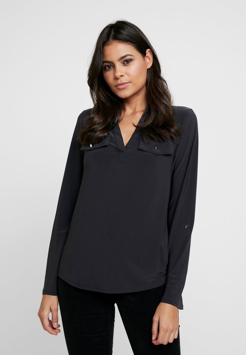 Dorothy Perkins - PLAIN - Blouse - dark grey