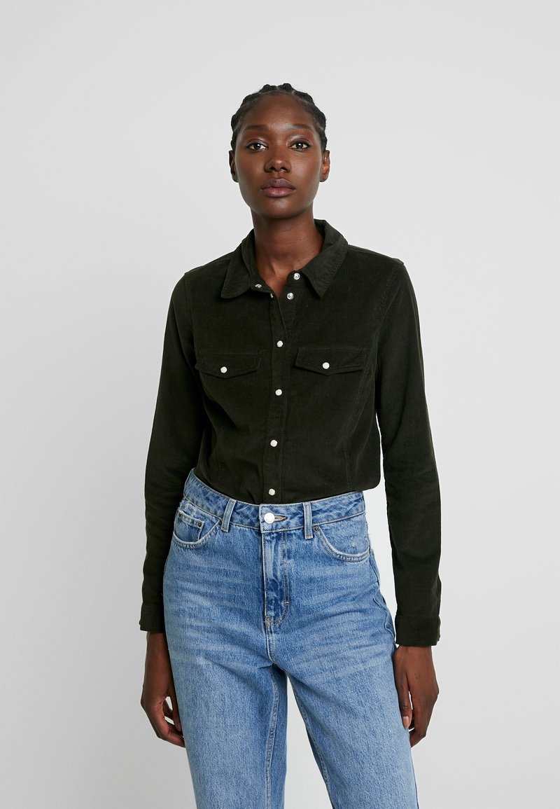 Dorothy Perkins - Button-down blouse - olive