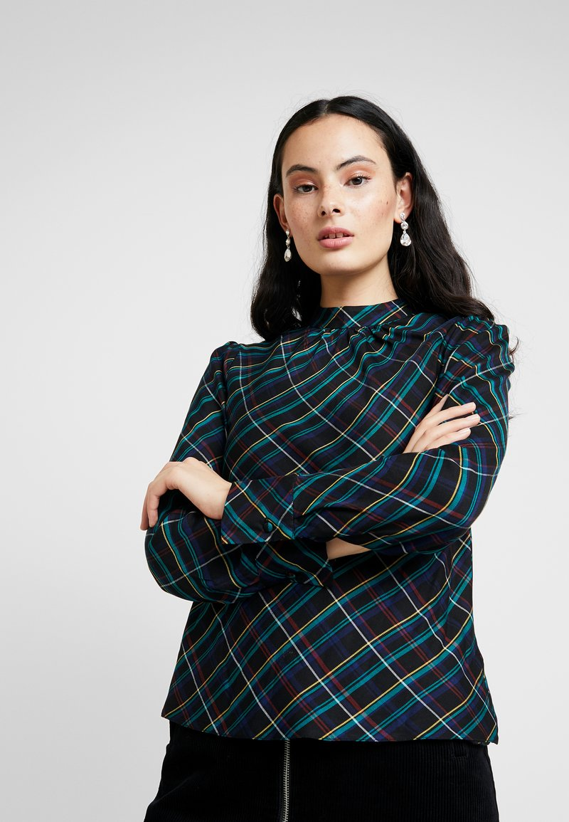 Dorothy Perkins - CHECK LONG SLEEVE - Bluser - green
