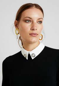 Dorothy Perkins - EMBELLISHED 2IN1 - Long sleeved top - black - 4