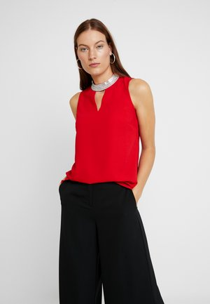 EMBELLISHED NECK SLEEVELESS - Bluser - red