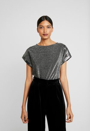 SEQUIN TEE - T-shirts med print - silver